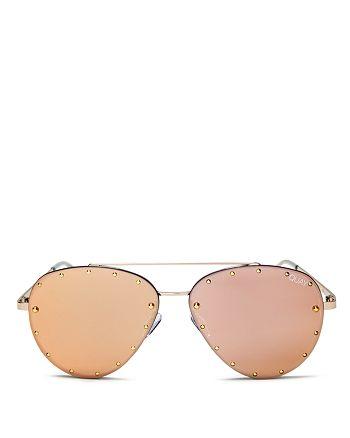 Quay - Women's  x Jaclyn Hill Roxanne Studded Aviator Sunglasses, 51mm