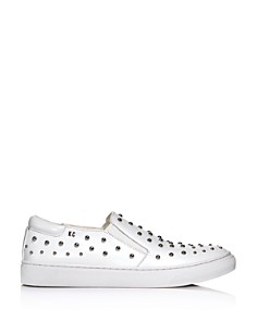 Kenneth Cole - Women's Mara Stud Leather Slip-On Sneakers