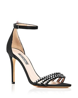 SJP by Sarah Jessica Parker - Women's Darcy Embellished Satin High Heel Sandals