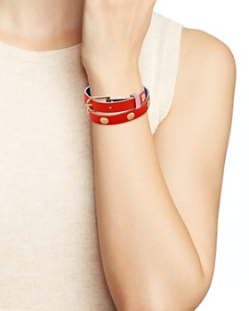 Tory Burch - Reversible Wrap Buckle Bracelet