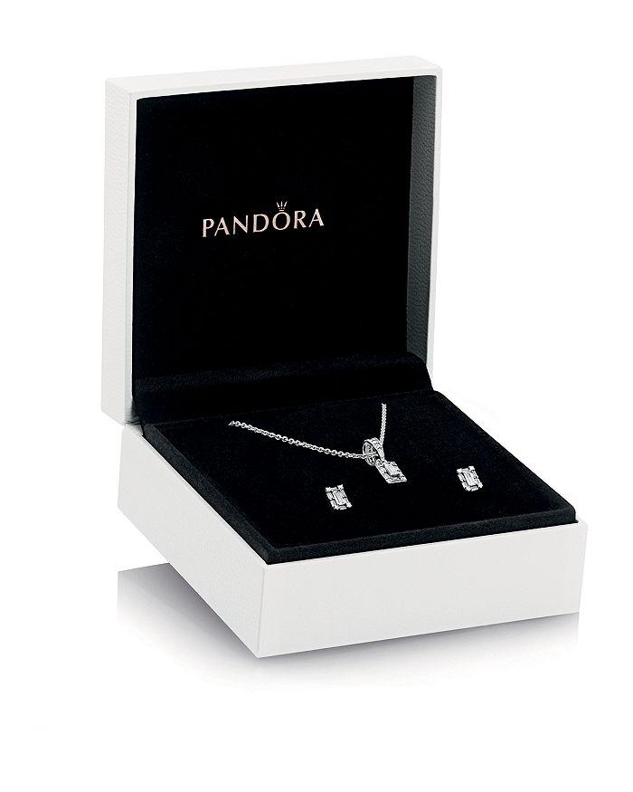 Pandora - Sterling Silver & Cubic Zirconia Luminous Ice Pendant Necklace & Stud Earrings Gift Set