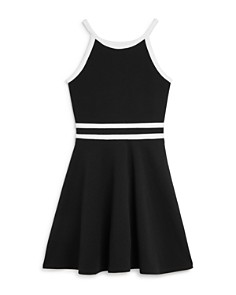 AQUA - Girls' Contrast Textured Dress, Big Kid - 100% Exclusive