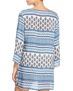 J. Valdi - Topanga Three-Quarter Sleeve Tunic Swim Cover-Up