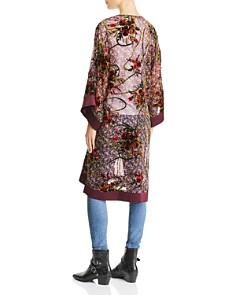 Band of Gypsies - Lonnie Floral Burnout Velvet Kimono