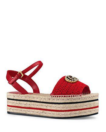Gucci - Women's Crochet Platform Espadrille