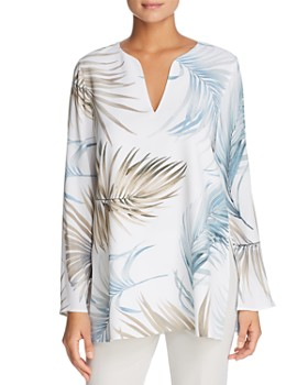 bf83e04d72ded Lafayette 148 New York - Wilmer Palm Print Blouse ...