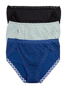 Natori Bliss French Cut Bikinis, Set of 3