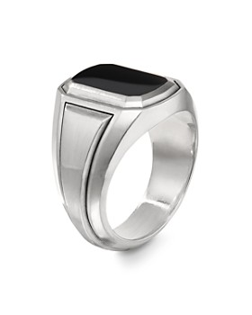David Yurman - Deco Signet Ring with Black Onyx