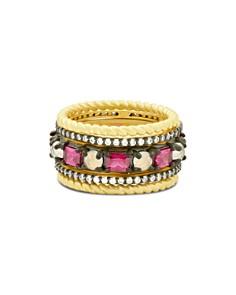 Freida Rothman - Color Ring in Black Rhodium-Plated Sterling Silver & 14K Gold-Plated Sterling Silver