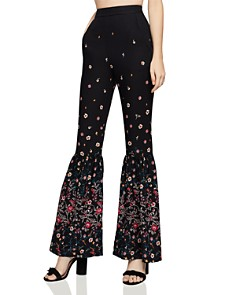 BCBGeneration - Floral Print Flared Pants