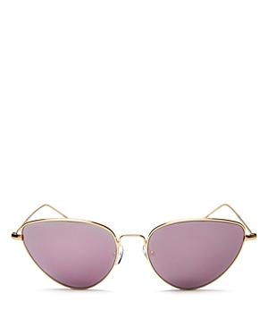 Illesteva Women's Rebecca Cat Eye Sunglasses, 56mm