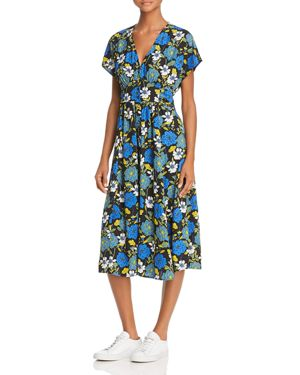 LOST AND WANDER Lost + Wander Blue Moon Floral Midi Dress - 100% Exclusive in Blue Print