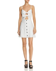Lost and Wander - Bloody Mary Double-Tie Mini Dress
