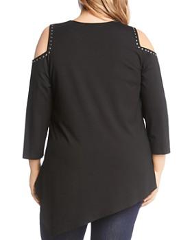 Karen Kane Plus - Studded Cold Shoulder Top