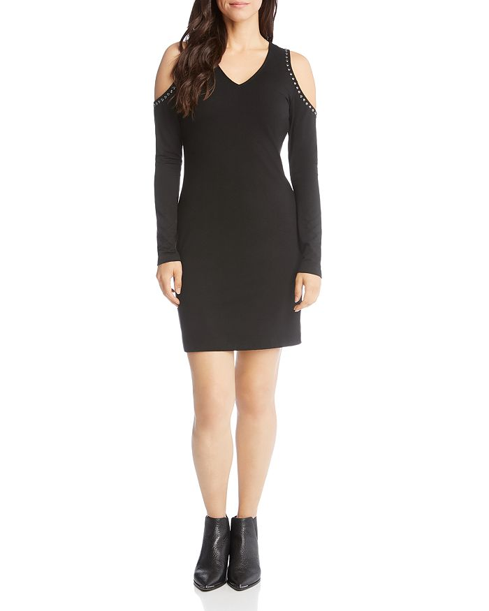 Karen Kane - Studded Cold Shoulder Dress