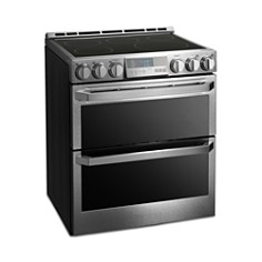 LG - SIGNATURE Smart Wi-Fi-Enabled Electric Double Oven Slide-In Range with ProBake Convection® #LUTE4619SN