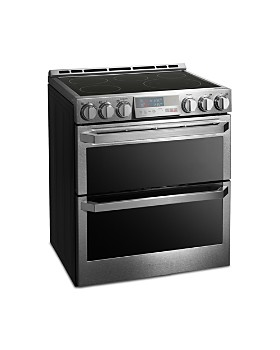 LG SIGNATURE - SIGNATURE Smart Wi-Fi-Enabled Electric Double Oven Slide-In Range with ProBake Convection® #LUTE4619SN