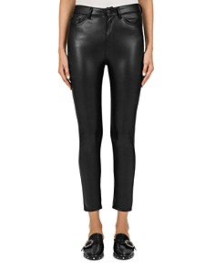 The Kooples - Mid-Rise Cropped Skinny Faux-Leather Pants