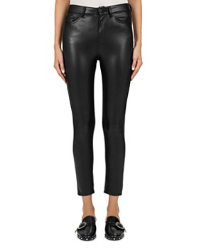 The Kooples - Mid-Rise Cropped Skinny Faux-Leather Pants ... 39c94e3078