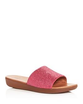 FitFlop - Women's Sola Crystal Platform Slide Sandals