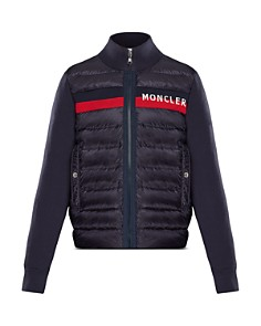Moncler - Boys' Contrast Knit Quilted Jacket - Big Kid