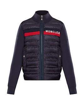 Moncler - Unisex Contrast Knit Quilted Jacket - Big Kid