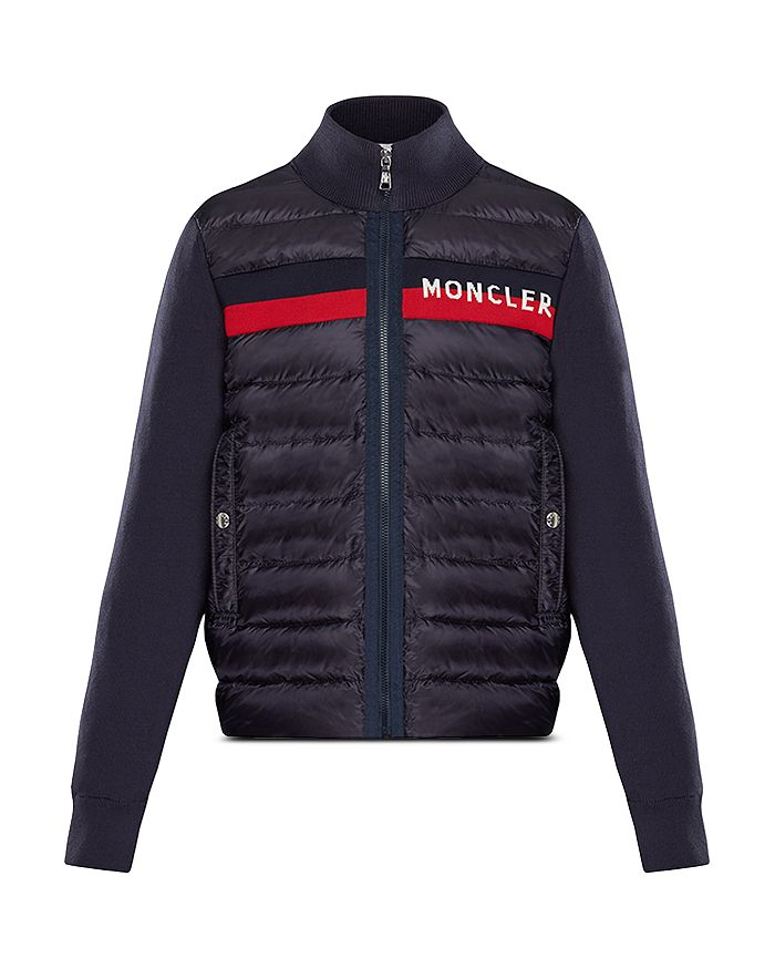 c28ffd82 Moncler Boys' Contrast Knit Quilted Jacket - Big Kid | Bloomingdale's