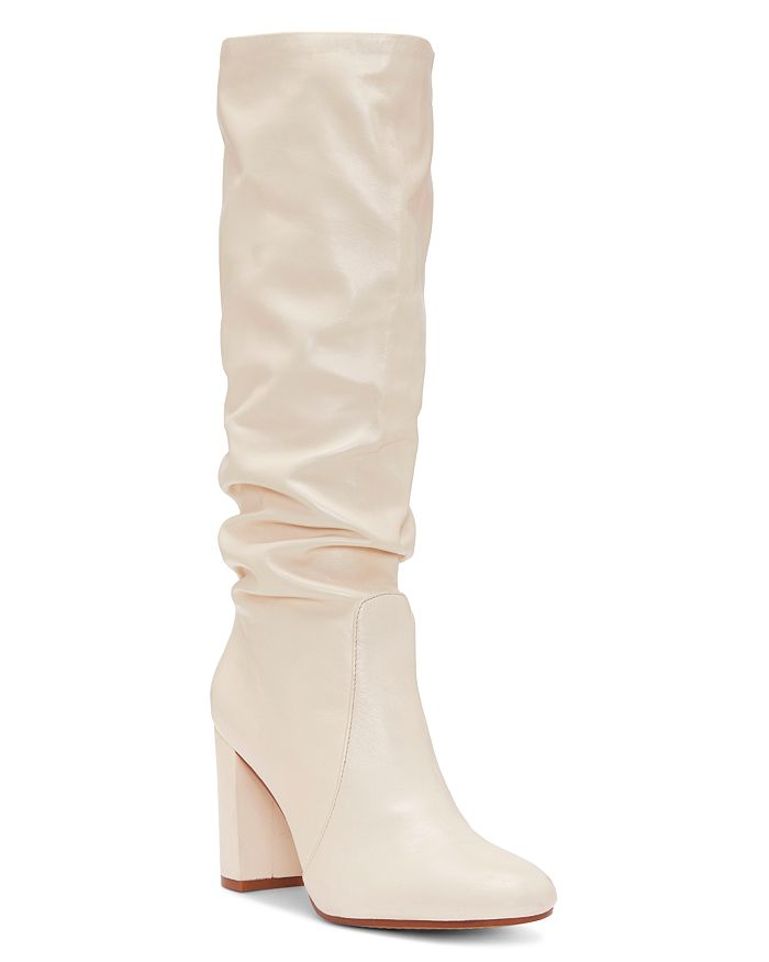 0cc108e0ee84 VINCE CAMUTO - Women s Sessily Round Toe Slouchy High-Heel Boots - 100%  Exclusive