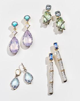 John Hardy - 18K Yellow Gold Cinta Naga Multi-Stone Drop One-of-a-Kind Earrings with Diamonds - 100% Exclusive