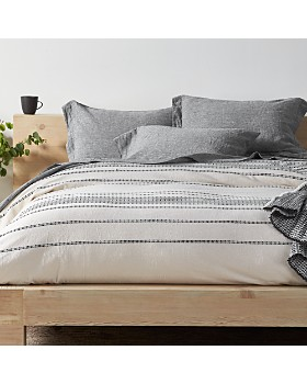 Coyuchi - Organic Cotton Ivory Rippled Stripe Bedding Collection