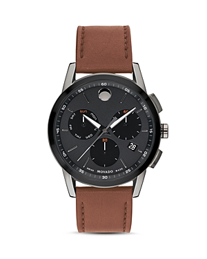 Movado Museum Sport Brown Leather Chronograph, 43mm
