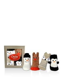 Trumpette - Unisex Chilly Fuzzy Socks, Set of 4 - Baby