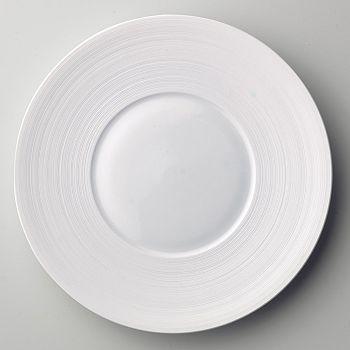 "JL Coquet - J•L Coquet ""Hemisphere"" White Presentation Plate"