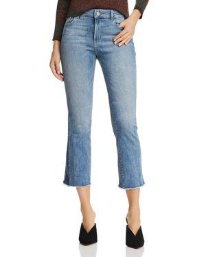 Dl1961 Instasculpt Bridget Crop Flare Jeans In Milton