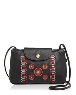 Longchamp - Cuir Rosace Leather Crossbody