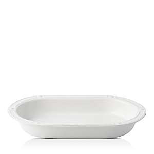 Juliska Berry & Thread French Panel Whitewash 17 Oval Baking Dish-Home