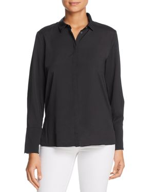 LE GALI Frances Rhinestone-Collar Blouse - 100% Exclusive in Black