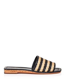 a7fa2e197133 ... kate spade new york - Women s Juiliane Striped Raffia Slide Sandals