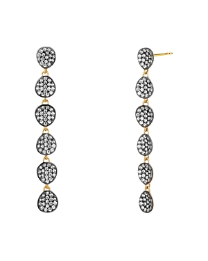 Nadri Como Linear Drop Earrings in 18K Gold-Plated Sterling Silver & Black Ruthenium-Plated Sterling Silver