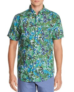 Onia - Jack Short-Sleeve Tropical-Print Classic Fit Button-Down Shirt