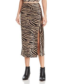 Anine Bing - Dolly Silk Zebra-Print Midi Skirt