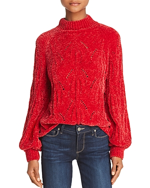 Lost + Wander Starlight Mock-Neck Chenille Sweater