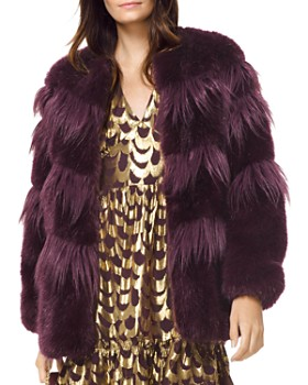 da70b64c3fcd MICHAEL Michael Kors - Chevron Faux-Fur Coat ...
