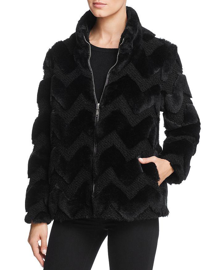 BASLER - Faux Fur Chevron Jacket