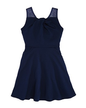 US Angels - Girls' Sleeveless Knot-Front Dress - Big Kid