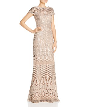 def0edde7d Tadashi Shoji - Embroidered Sequin Illusion Gown ...