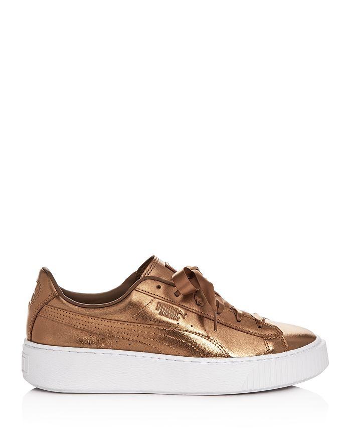 15135ea2ebfa PUMA - Women s Basket Low-Top Platform Sneakers