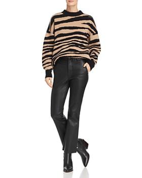 Anine Bing Cheyenne Zebra Print Cashmere Sweater