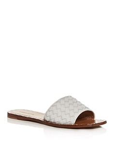 Bottega Veneta - Women's Woven Slide Sandals