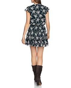 1.STATE - Floral Print Tiered Ruffle Dress